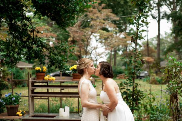 same sex couple kiss
