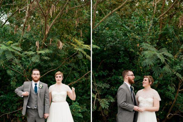 american goth bride groom
