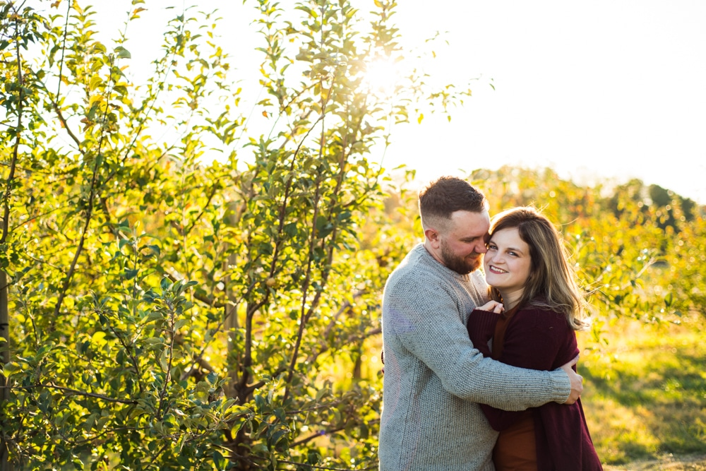 BJ Reece Orchards Engagement Session // Stephanie & Ryan