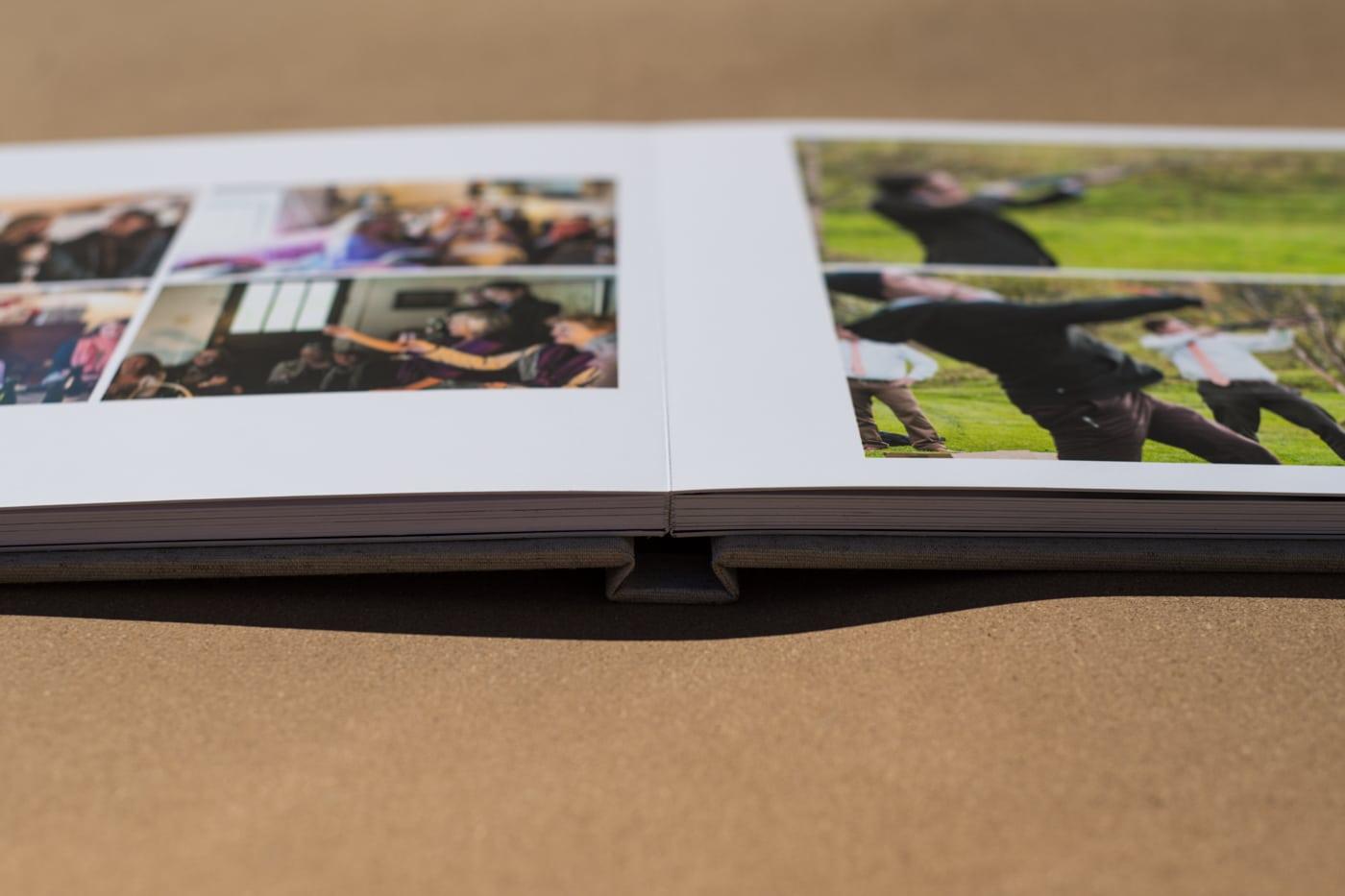 flatlay of wedding album shared by GA wedding photographer