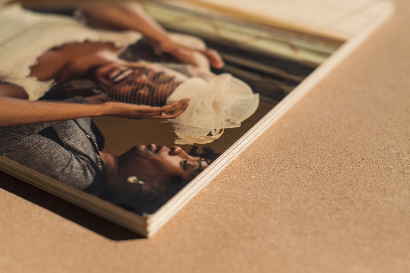 eco-friendly wooden prints from GA wedding photographer