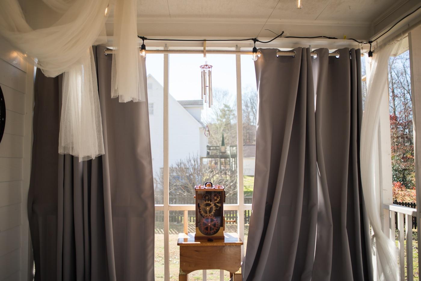 altar at home for elopement in Atlanta GA