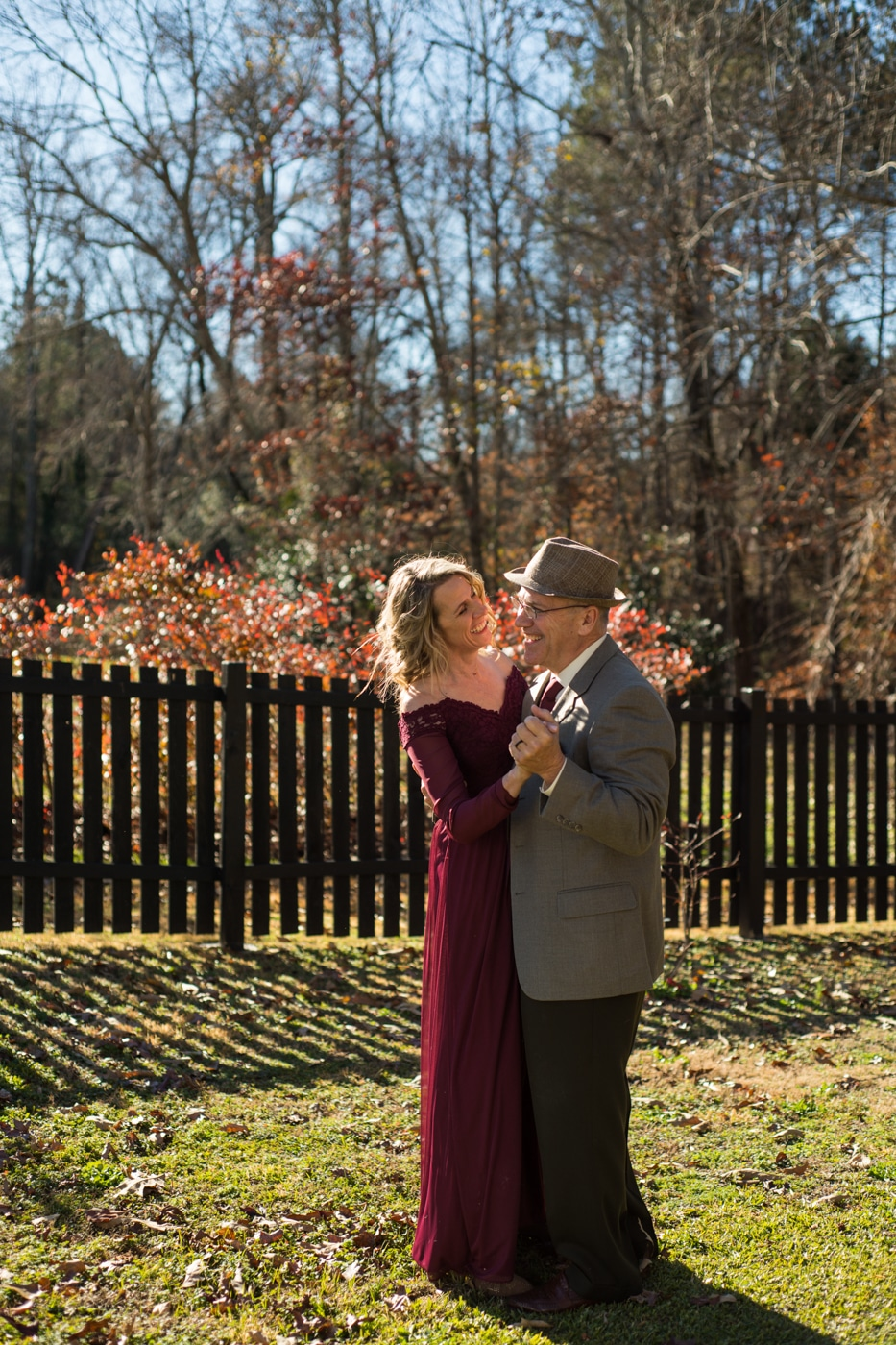 couple dances during at-home elopement