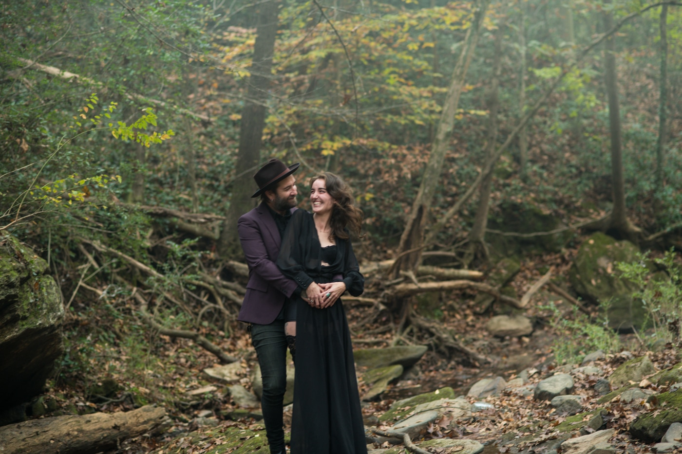 Atlanta engagement session with witchy vibe