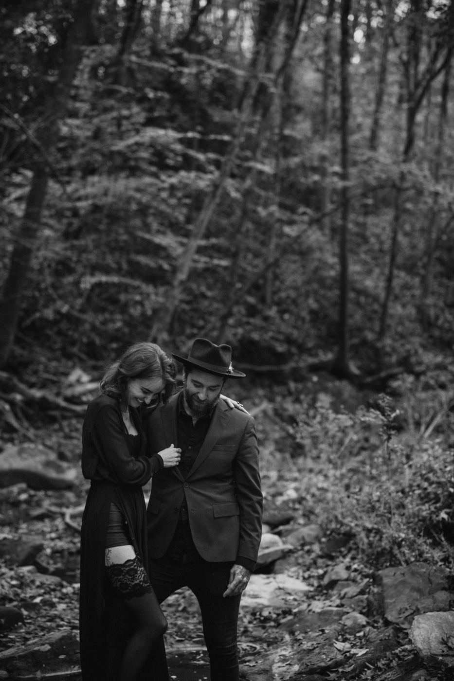 Atlanta couples portraits in the woods with You Are Raven