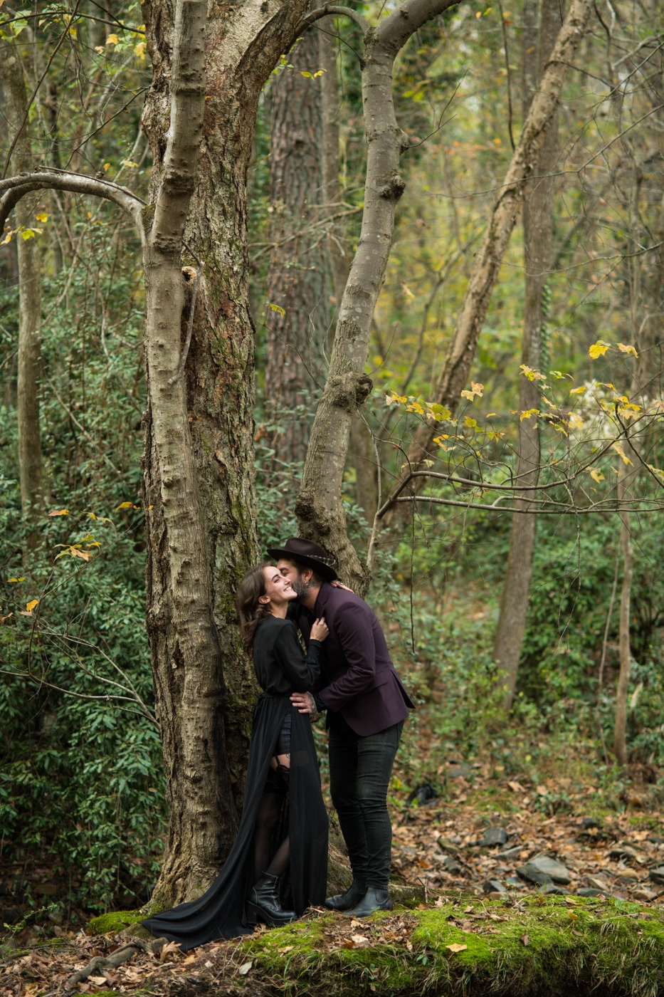Atlanta engagement portraits in the woods