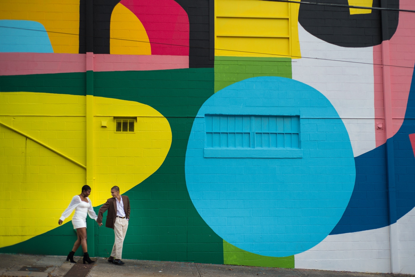 colorful Atlanta portrait session outside the Westside Cultural Arts Center