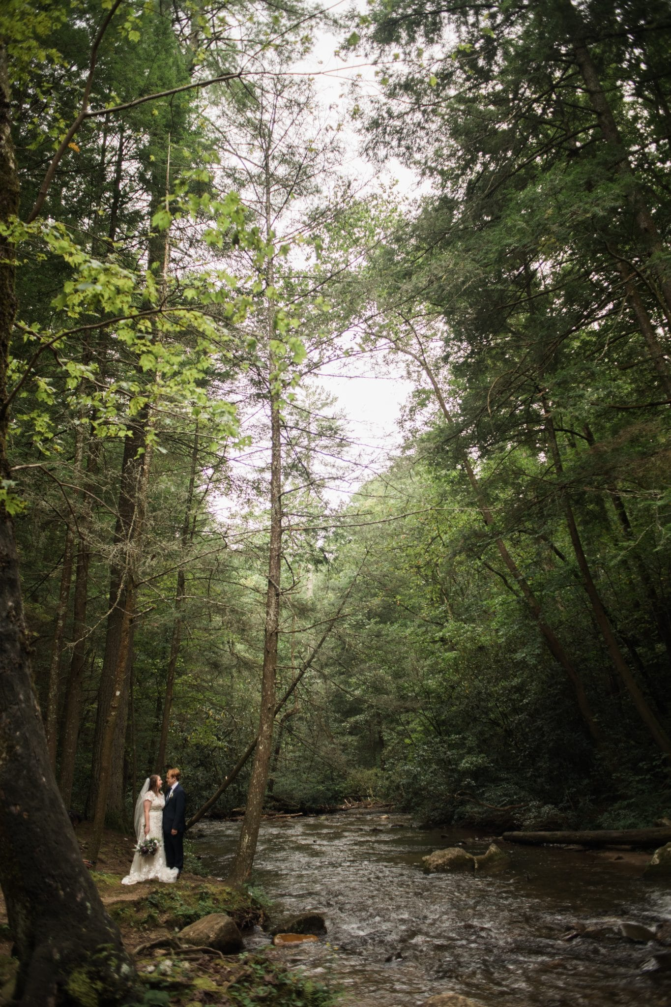 wedding portraits in the mountains of Helen GA