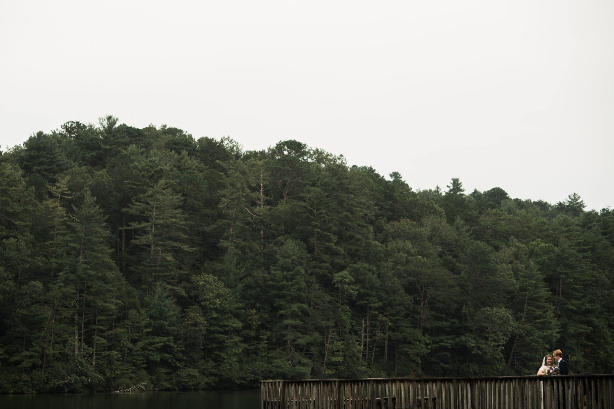 wedding portrait in the mountains of Georgia