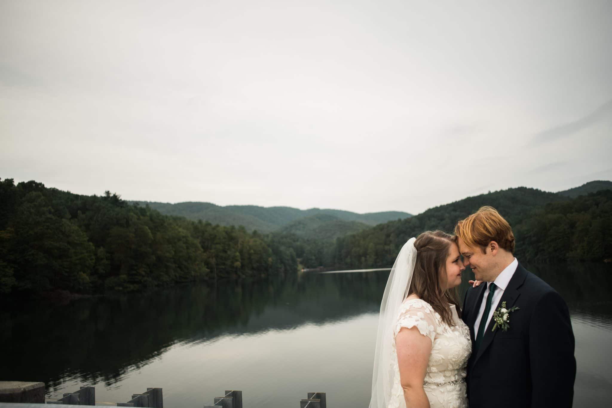 Unicoi State Park Adventure wedding overlooking the water