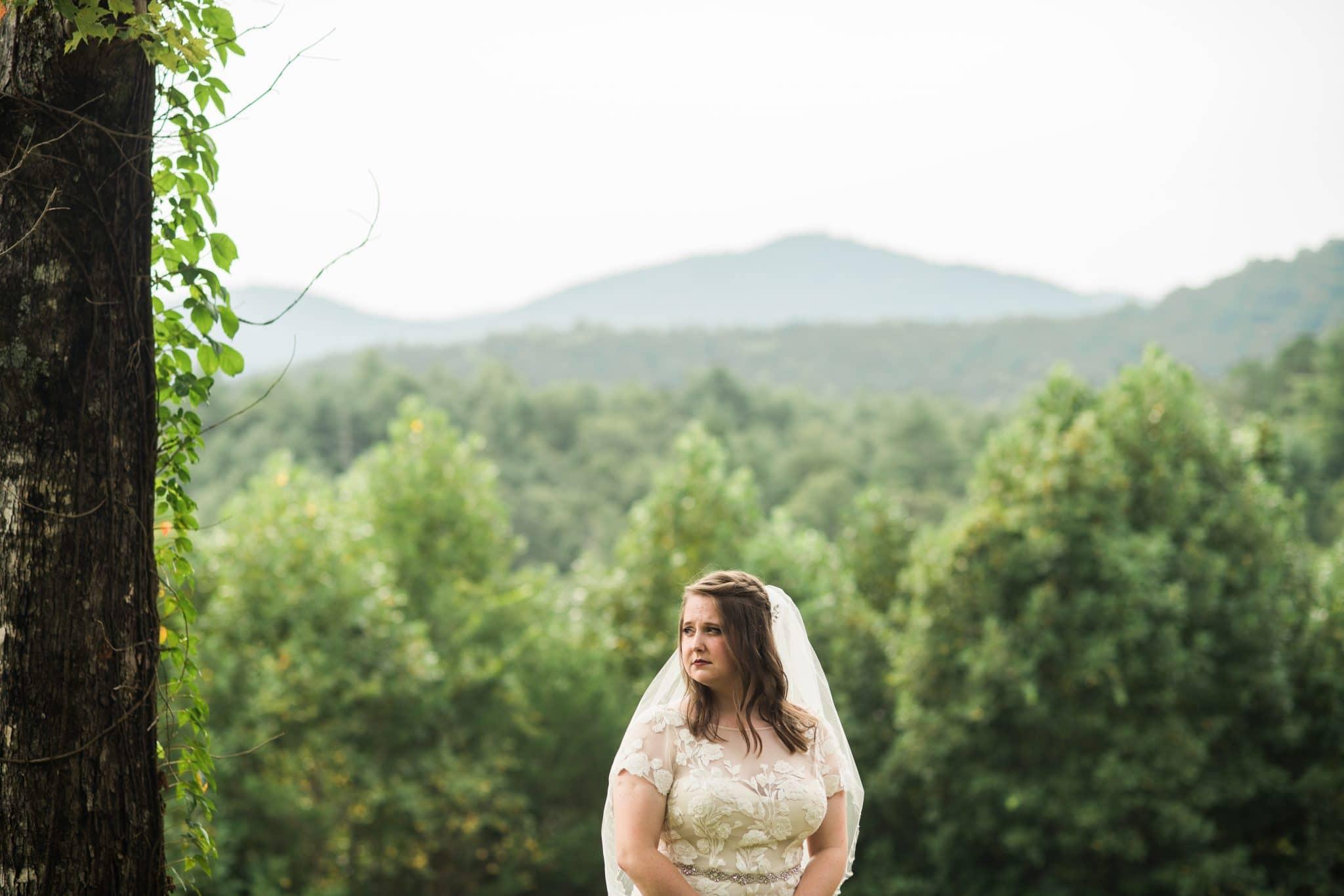 Unicoi State Park Adventure wedding portraits of the bride