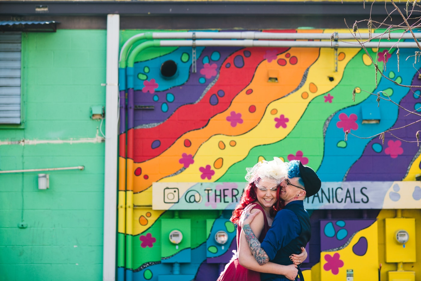 Atlanta Portrait Session by rainbow mural