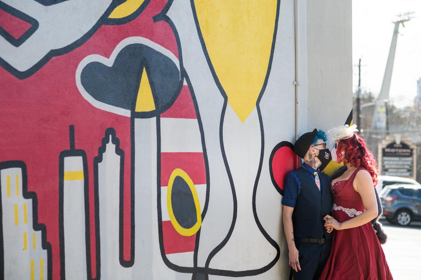 colorful Atlanta Portrait Session along Ponce City market mural