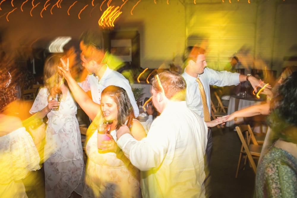 Monday Night Brewery wedding reception dancing