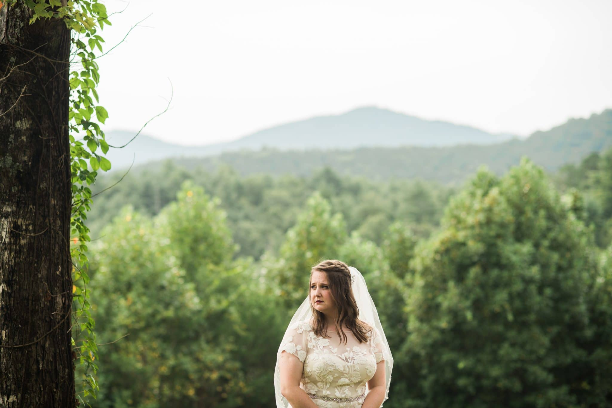 bridal portraits in the mountains with ATL wedding photographer Raven Shutley Studios
