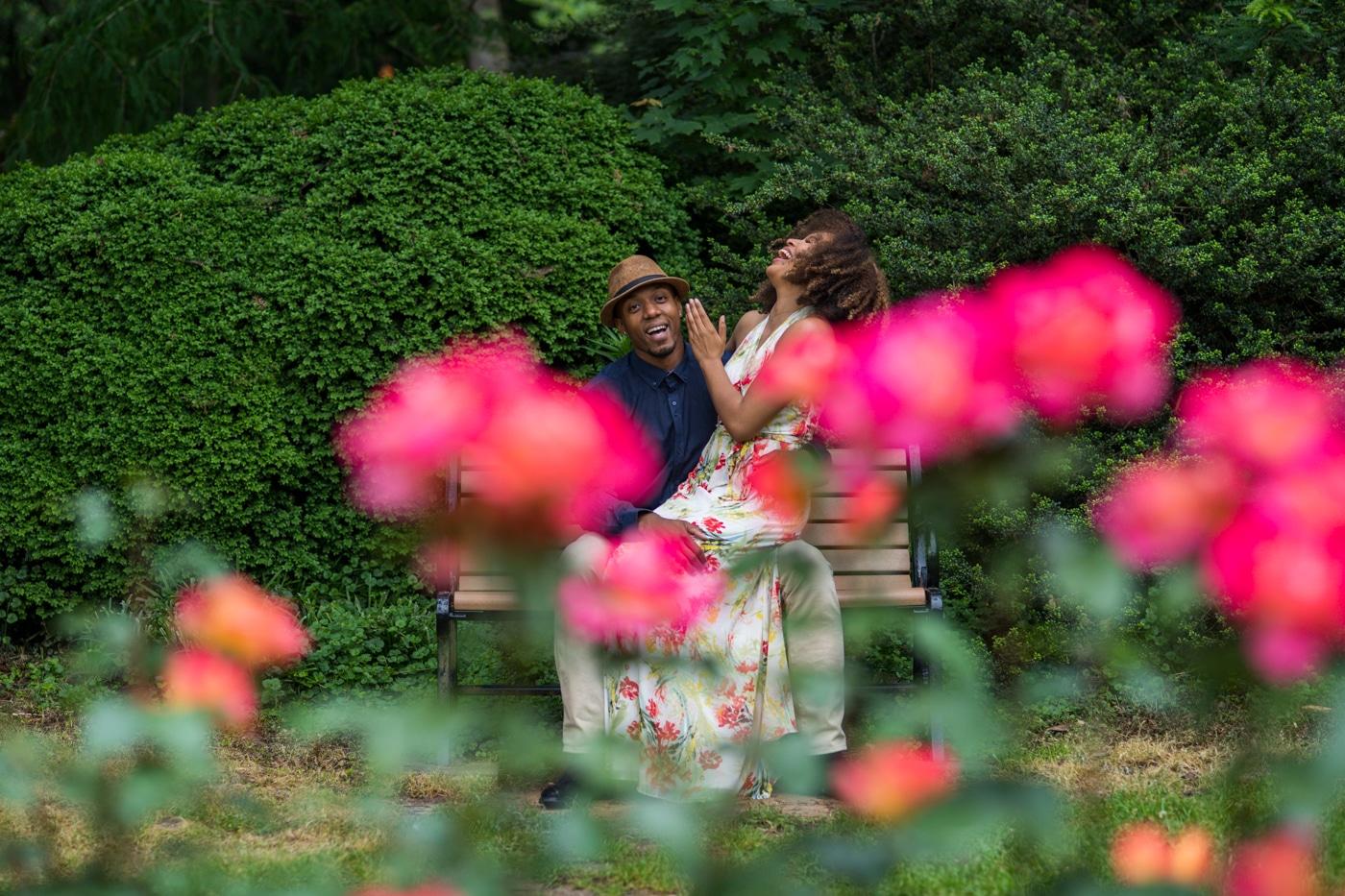 Jessica & Kris // Raleigh Rose Garden Portrait Session