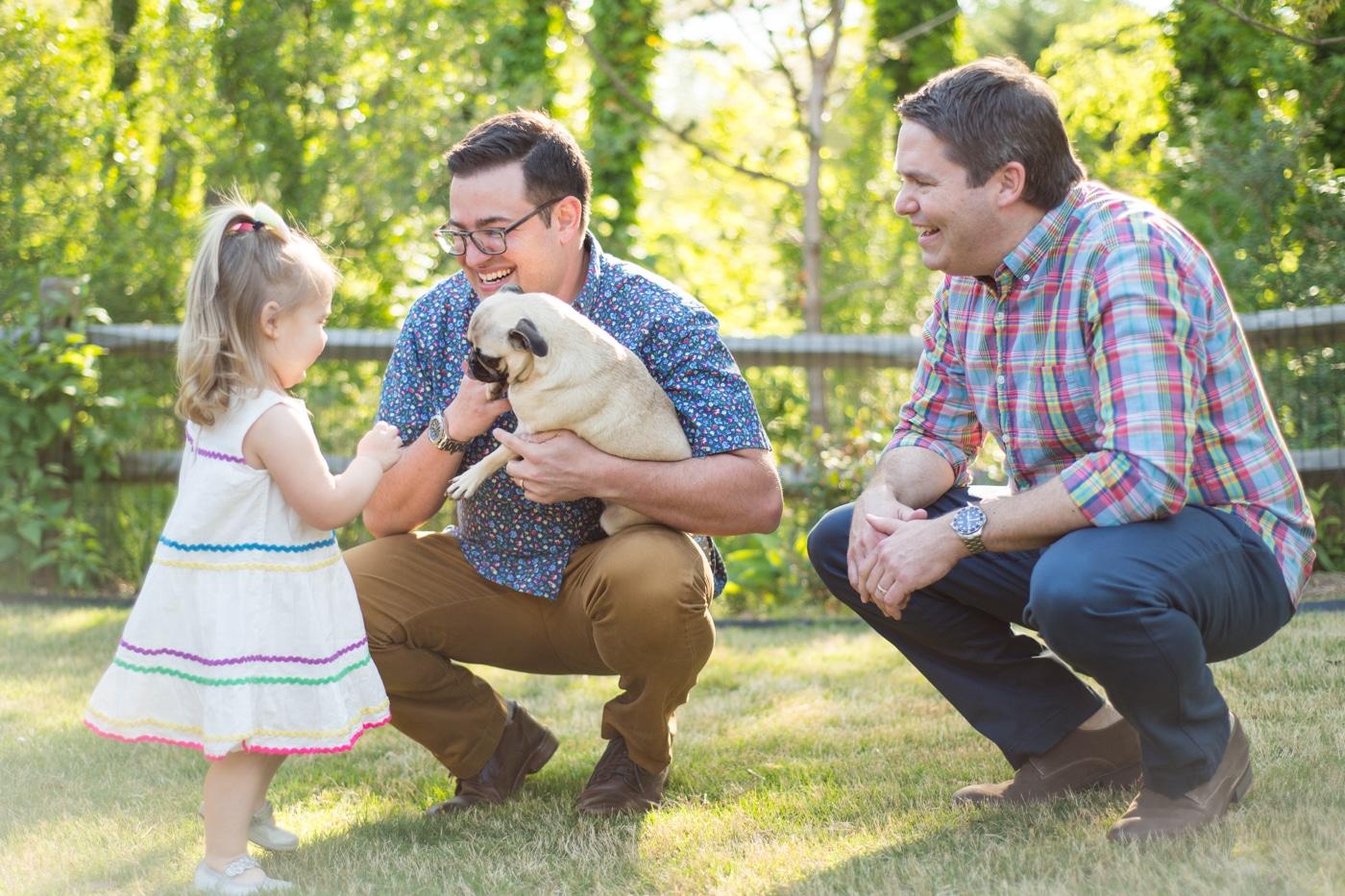 Jack, Gary, & Frankie // Atlanta Family Portraits in a Backyard