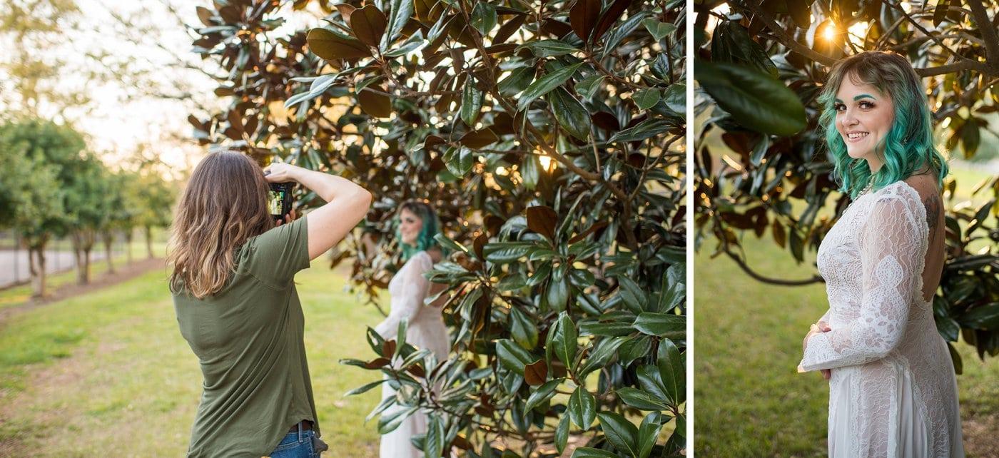 Atlanta wedding photographer photographs Grant Park bridal session