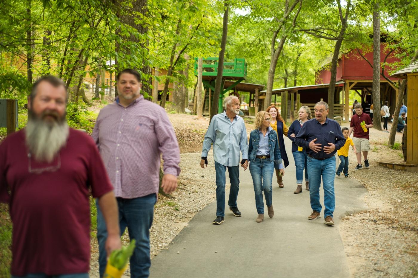 family walks through Georgia preserve
