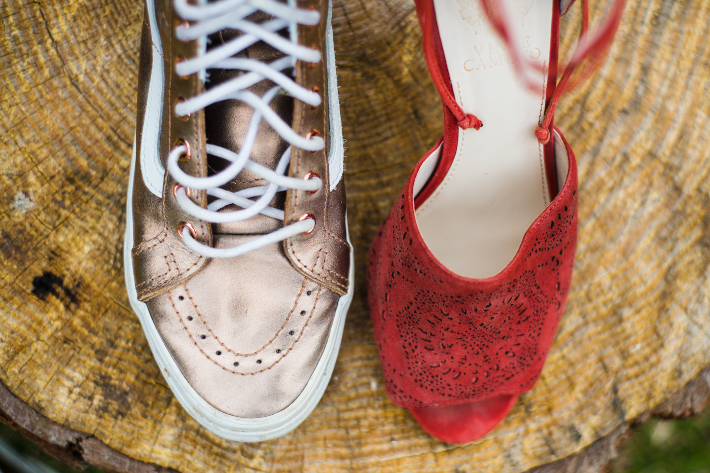bride's shoes for Green Wedding Guild styled shoot with tropical vibes