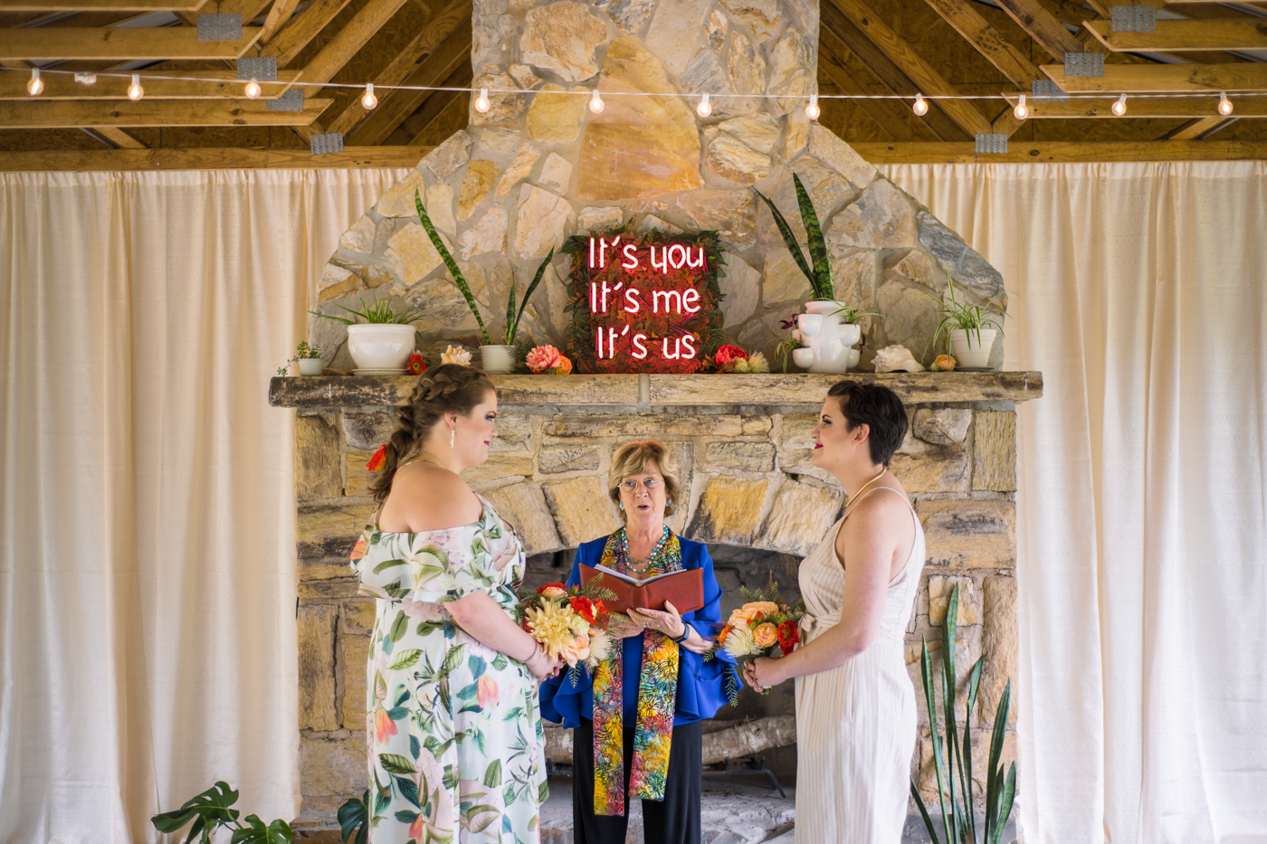 brides have intimate ceremony at Bill Scott Pavilion