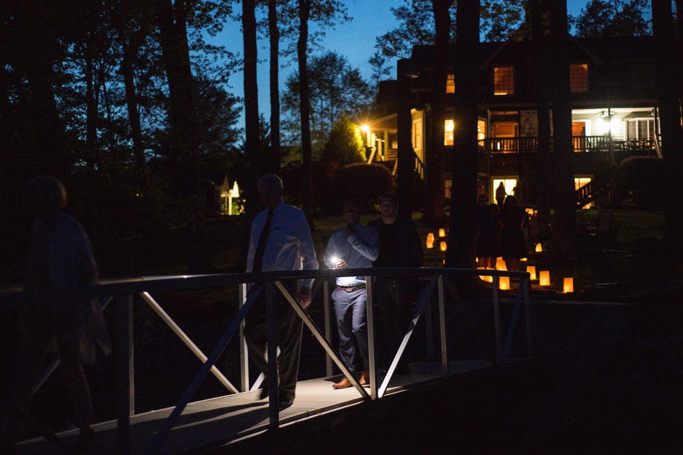 memorial lantern release at Lake Blue Ridge